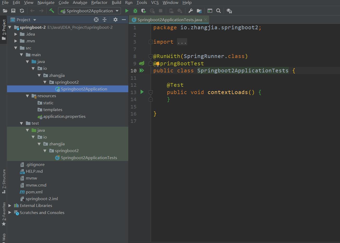 SpringBoot测试类以及配置文件和配置类