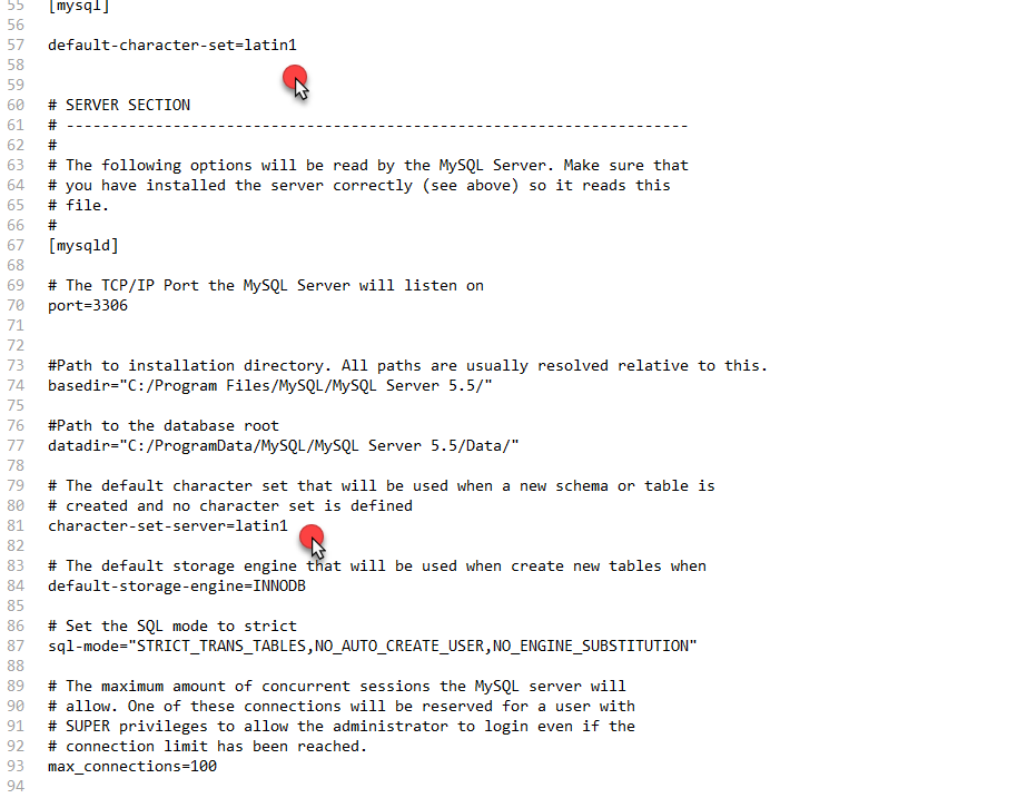 1-2:MySQL的安装与配置